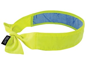 Ergodyne Chill-Its 6700CT Cooling Tie Bandana w/ Towel - Lime