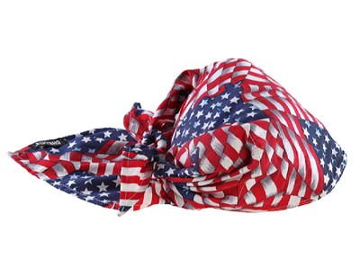 Ergodyne Chill-Its 6710CT Cooling Triangle Hat w/Towel-Stars/Stripes