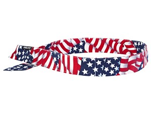 Ergodyne Chill-Its 6705 Evaporative Cooling Hook Bandana - Stars/Stripes