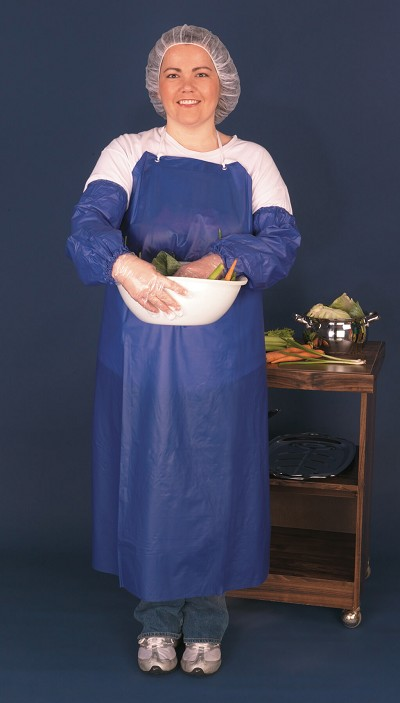 MCR River City O63R7 8 mil Vinyl Apron, Raw Edge, 35 X 35 Blue  Universal