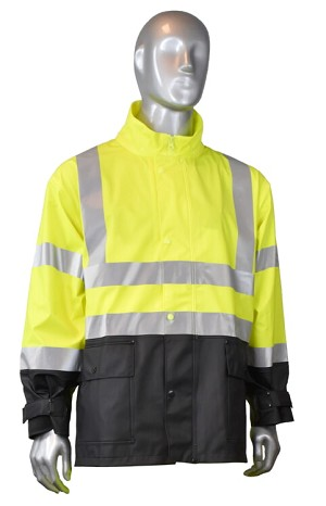 Radians RW07J-3ZGV .35mm HI-Viz Jacket Green