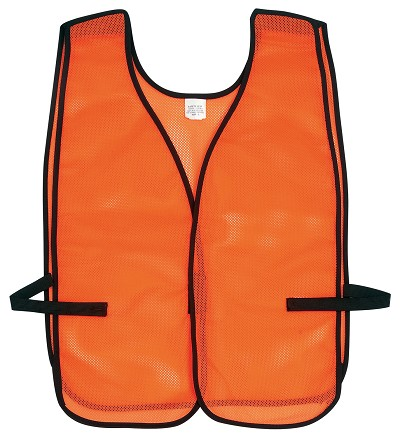 MCR River City V201BA Poly, Mesh Safety Vest, Break Away Orange