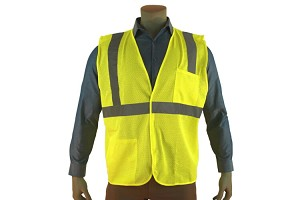 Economy Class 2 Mesh Safety Vest Green