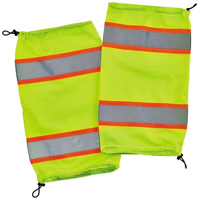 Ergodyne GloWear® 8009 Class E Two-Tone Mesh Leg Gaiters - Lime