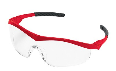 MCR Safety ST130 ST1 Red Frame, Clear Lens