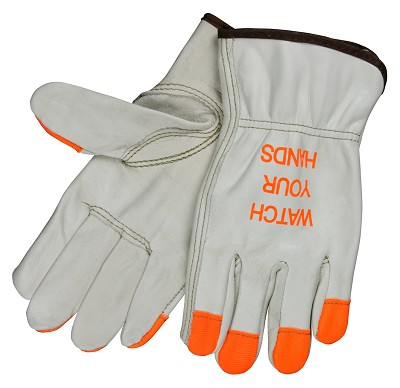 MCR Safety 3213HVI Cowhide Leather glove